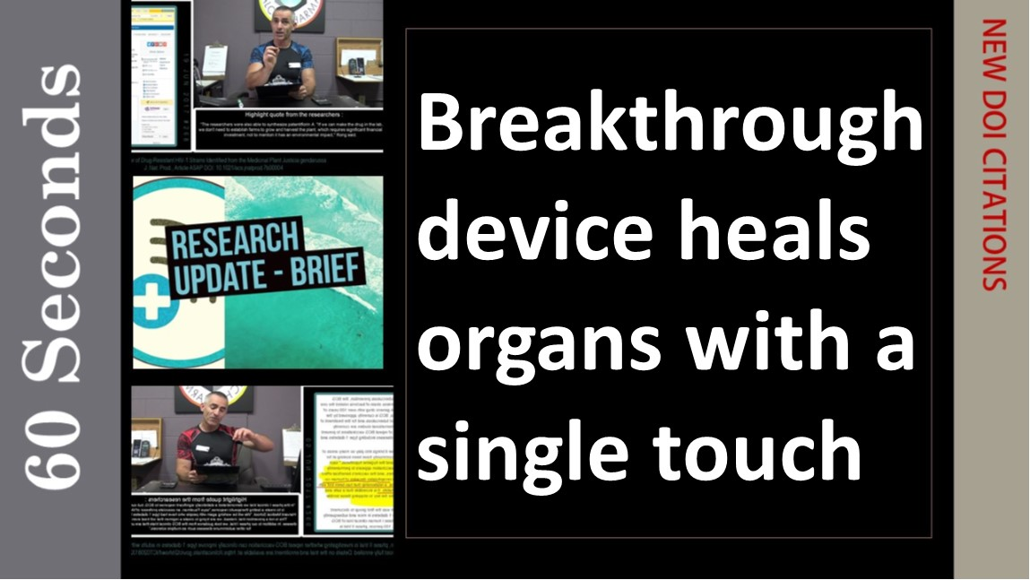 Nano tech device heals organs with a single touch