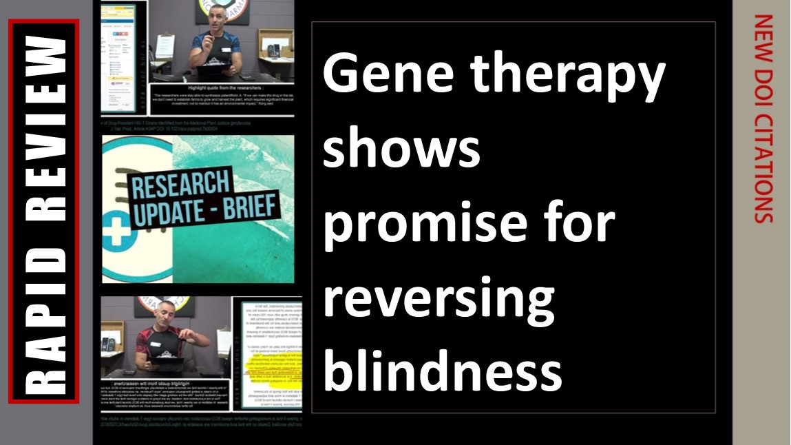 Blindness reversed through simple gene therapy (Animal Model)