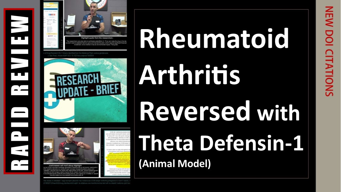 Rheumatoid Arthritis resolved with a newly discovered peptide