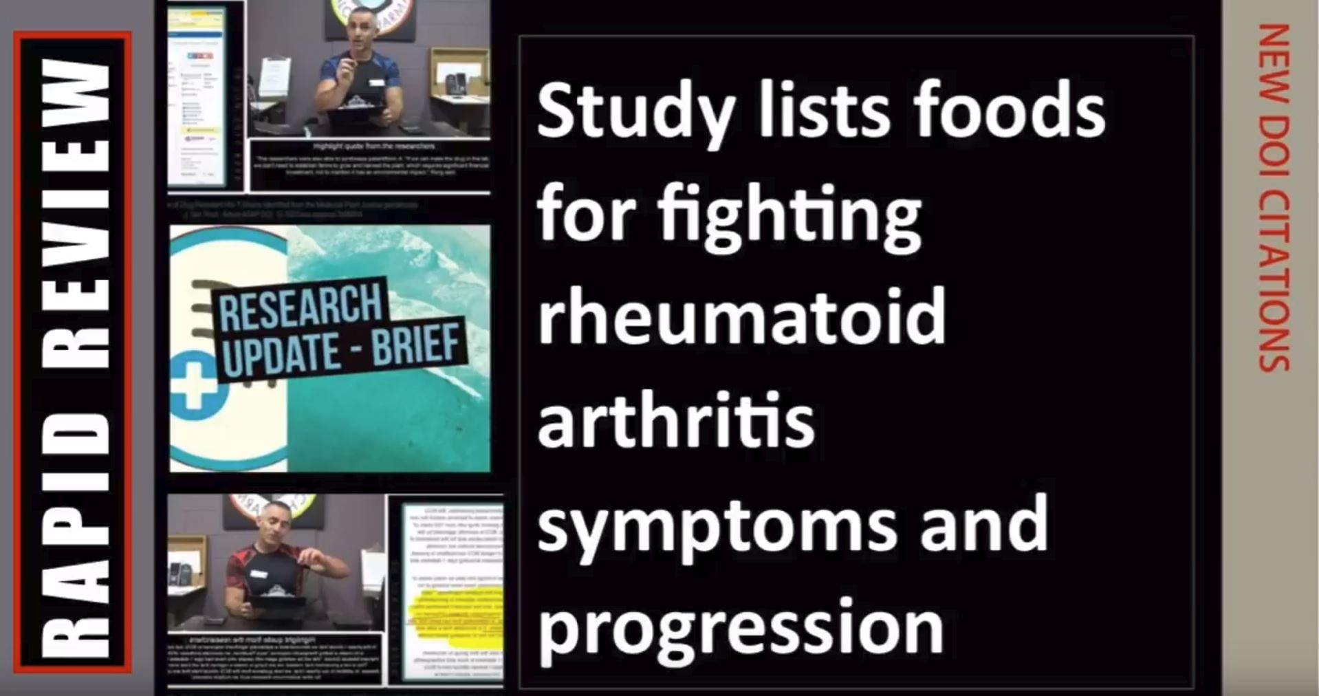 Fighting rheumatoid arthritis symptoms and progression with a list of food items proven beneficial