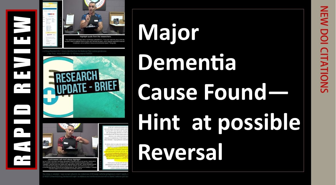 Major Dementia Cause Found—Hint at possible Reversal