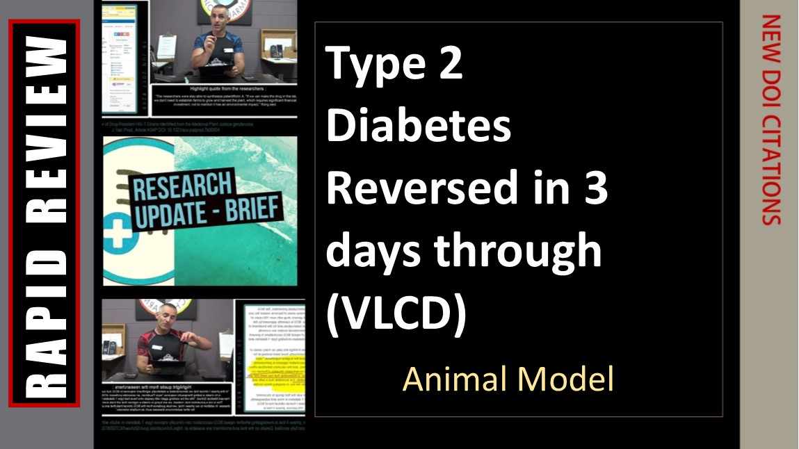 Diabetes reversed in 3 days through diet ( Animal Model)